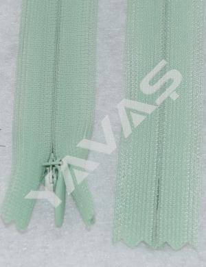 878 YKK Reißverschluss Nahtverdeckt 60cm grün
